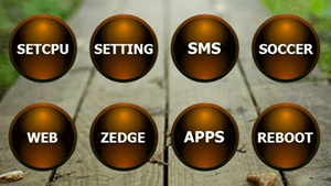 Black / Orange Glass Round icons