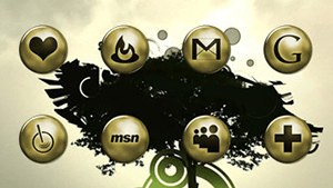 Network Gold-Icons