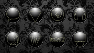 Dark Spherical Dock Icons