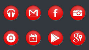 Circons Red Icon Pack