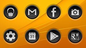 3K SR BLACK – Icon Pack