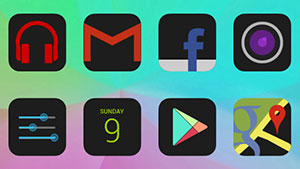 HD Dark Free – Icon Pack