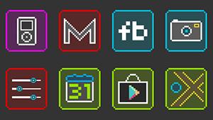 Neon Pixelz – Icon Pack